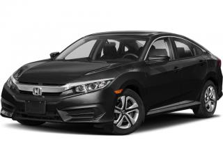 Used 2018 Honda Civic Accident Free, One Owner Civic LX Leased New Right Here at Waterloo Honda! Certified Powertrain Warr for sale in Waterloo, ON