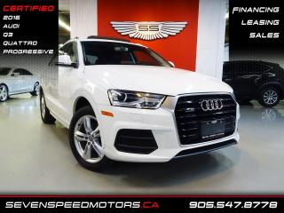 Used 2016 Audi Q3 PROGRESSIVE | NAVI | CERTIFIED | FINANCE @ 4.65% for sale in Oakville, ON