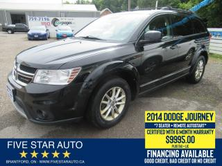 Used 2014 Dodge Journey SXT 7-Seater - Certified + 6 Month Warranty for sale in Brantford, ON