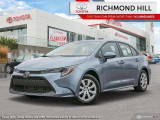 New 2020 Toyota Corolla COROLLA LE CVT for sale in Richmond Hill, ON