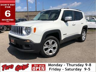 Used 2017 Jeep Renegade Limited | 4wd | Htd Leather | Nav | My SkyRoof | for sale in St Catharines, ON