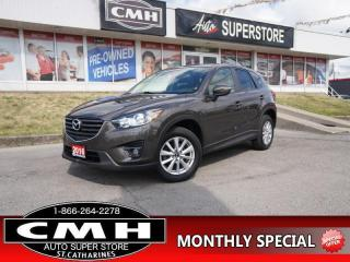 Used 2016 Mazda CX-5 GS  AWD NAV CAM BLIND-SPOT ROOF P/SEAT 17-AL for sale in St. Catharines, ON