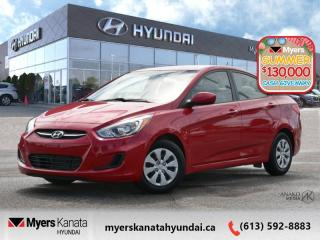 Used 2016 Hyundai Accent GL  - $76 B/W - Low Mileage for sale in Kanata, ON