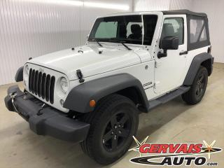 Used 2017 Jeep Wrangler Sport 4x4 MAGS winch 8500lbs for sale in Trois-Rivières, QC
