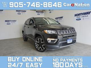 Used 2018 Jeep Compass LIMITED|4X4 | LEATHER | ROOF | NAV | NEW CAR TRADE for sale in Brantford, ON