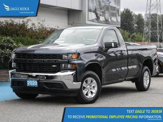 New 2020 Chevrolet Silverado 1500 Work Truck Apple CarPlay & Android Auto, Backup Camera for sale in Coquitlam, BC