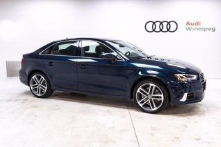 Used 2019 Audi A3 Sedan Technik w/Technology Package *Low KM Local* for sale in Winnipeg, MB