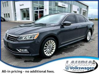 Used 2017 Volkswagen Passat Comfortline Auto - Carplay/Android Auto for sale in PORT HOPE, ON