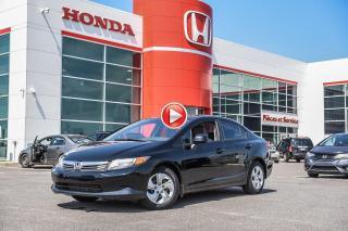 Used 2012 Honda Civic LX 02678A  NOIR for sale in Terrebonne, QC