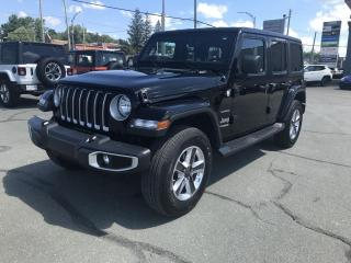 Used 2020 Jeep Wrangler Sahara 4x4 UNLIMITED for sale in Sherbrooke, QC