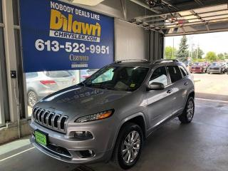 Used 2016 Jeep Cherokee Overland 4X4 Fully Loaded for sale in Nepean, ON