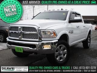 Used 2018 RAM 2500 Laramie 4X4 Crew | 6.7L, Navi, Leather, Sunroof for sale in Nepean, ON