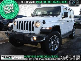 Used 2020 Jeep Wrangler Unlimited Sahara 4X4 | Navi, Remote Start, Rear Cam, Alpine for sale in Nepean, ON