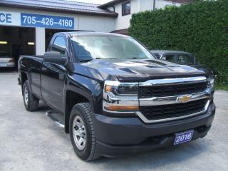 Used 2016 Chevrolet Silverado 1500 WT ,8ft Box , Reg.Cab, 4X4 for sale in Beaverton, ON