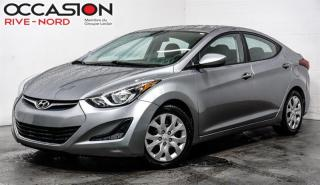 Used 2015 Hyundai Elantra GL SIEGES.CHAUFFANTS+BLUETOOTH+A/C for sale in Boisbriand, QC