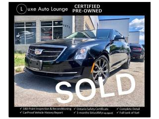 Used 2016 Cadillac ATS Luxury Collection AWD BLACK CHROME PKG! NAV, BOSE! for sale in Orleans, ON