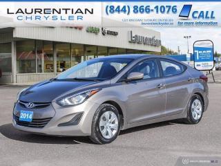 Used 2014 Hyundai Elantra L!!  MANUAL TRANSMISSION!! for sale in Sudbury, ON