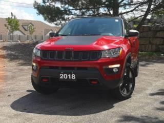 Used 2018 Jeep Compass Trailhawk 4x4 | Pano | Navi | Leather | Heated for sale in Waterloo, ON