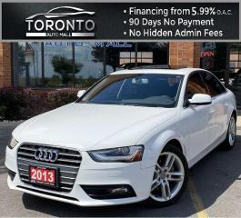 Used 2013 Audi A4 2.0T Premium Sedan quattro NAVI Sunroof Leather Heated Seats for sale in North York, ON