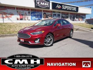 Used 2019 Ford Fusion Hybrid Titanium  HYBRID NAV ROOF CS HS CAM LEATH for sale in St. Catharines, ON