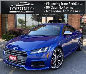Used 2016 Audi TTS 2.0T quattro S tronic Drive Select NAVI Leather Bluetooth BackUp Camera Parking Sensors for sale in North York, ON