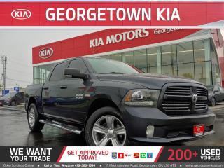 Used 2016 RAM 1500 SPORT | LEATHER | HTD/COOLD SEATS | TONNEAU CVR|BT for sale in Georgetown, ON
