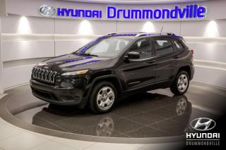 Used 2014 Jeep Cherokee SPORT + GARANTIE + CAMERA + MAGS + A/C for sale in Drummondville, QC