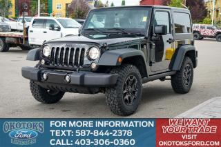 Used 2017 Jeep Wrangler Sport 2 DOOR/WILLYS/AUTO for sale in Okotoks, AB