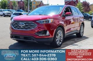 Used 2019 Ford Edge Titanium 301A/ROOF/HTD-COOLED SEATS/ADAPTIVE/FORD PASS for sale in Okotoks, AB