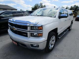 Used 2014 Chevrolet Silverado 1500 LOADED LTZ EDITION 5 PASSENGER 5.3L - V8.. 4X4.. CREW.. SHORTY.. NAVIGATION.. LEATHER.. HEATED/AC SEATS.. SUNROOF.. BACK-UP CAMERA.. BOSE AUDIO.. for sale in Bradford, ON