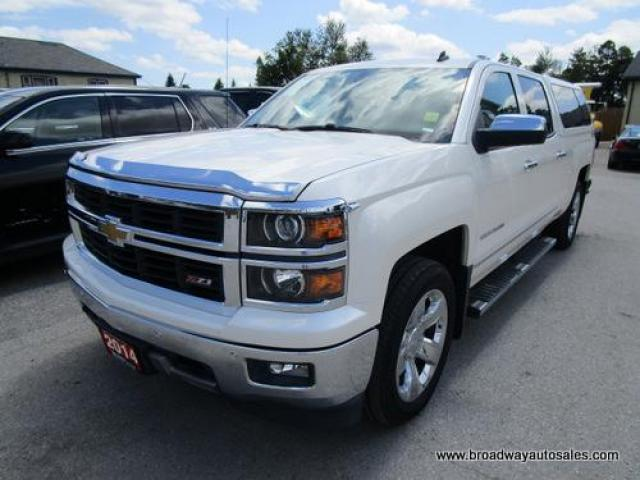 2014 Chevrolet Silverado 1500 LOADED LTZ EDITION 5 PASSENGER 5.3L - V8.. 4X4.. CREW.. SHORTY.. NAVIGATION.. LEATHER.. HEATED/AC SEATS.. SUNROOF.. BACK-UP CAMERA.. BOSE AUDIO..