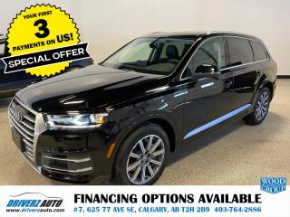 Used 2019 Audi Q7 55 Progressiv 360 CAMERA, BLIND SPOT MIRRORS,AND LOT MORE for sale in Calgary, AB