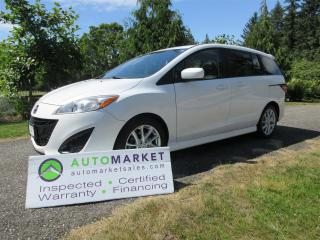 Used 2012 Mazda MAZDA5 GT LEATHER MOONROOF, INSPECTED, BCAA MBSHP, WARR, FINANCING for sale in Surrey, BC