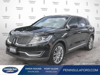 Used 2018 Lincoln MKX Reserve - Leather Seats - $213 B/W for sale in Port Elgin, ON