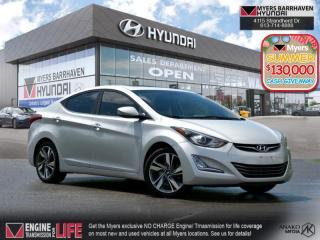 Used 2014 Hyundai Elantra LIMITED  - Sunroof -  Leather Seats - $97 B/W for sale in Nepean, ON