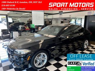 Used 2016 BMW 5 Series 528i+M PKG+TECH PKG+Adaptive Cruise+Accident Free for sale in London, ON