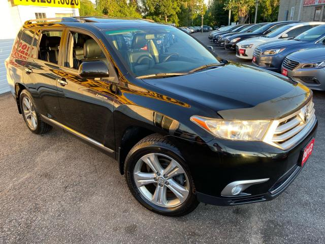 2012 Toyota Highlander LIMITED/ 4WD/ NAVI/ CAM/ 7 PASS/ LEATHER/ SUNROOF!