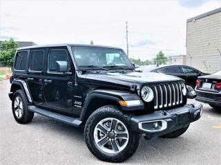 Used 2019 Jeep Wrangler Unlimited SAHARA|HEATED SEATS|NAVI|REAR VIEW|LEATHER|PARKING SENSORS! for sale in Brampton, ON