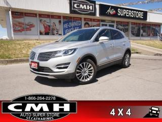 Used 2017 Lincoln MKC Reserve  RESERVE CS NAV PANO-ROOF P/GATE for sale in St. Catharines, ON