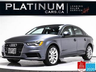 Used 2016 Audi A3 2.0T quattro Technik, SUNROOF, CAM, HEATED, BT for sale in Toronto, ON