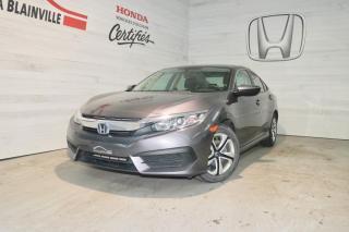 Used 2017 Honda Civic 4 portes, boîte manuelle, LX for sale in Blainville, QC