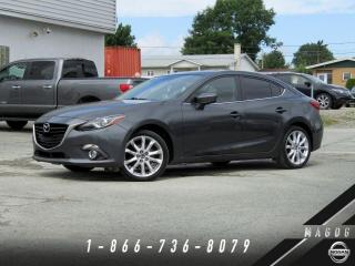 Used 2014 Mazda MAZDA3 GT + AFFICAHGE TETE-HAUTE + MAGS + TOIT! for sale in Magog, QC