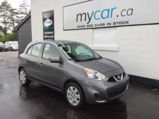 Used 2017 Nissan Micra SV BLUETOOTH, A/C, LOW KM'S!!!! for sale in Richmond, ON