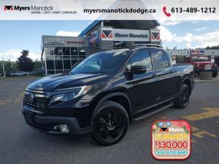 Used 2017 Honda Ridgeline Black Edition  - Navigation - $265 B/W for sale in Ottawa, ON