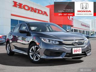 Used 2017 Honda Civic LX BLUETOOTH   APPLE CARPLAY™ & ANDROID AUTO™   ECON MODE for sale in Cambridge, ON