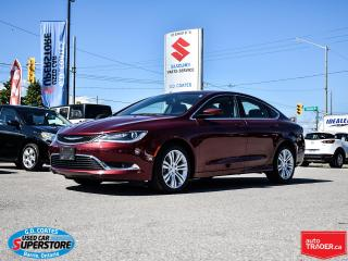 Used 2015 Chrysler 200 Limited ~Heated Seats/Wheel ~Backup Cam ~Bluetooth for sale in Barrie, ON