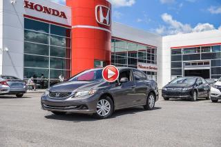 Used 2013 Honda Civic GARANTIE LALLIER MOTO-PROPULSEUR 10ANS/200,000 KIL 93400A   GRIS for sale in Terrebonne, QC