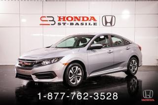 Used 2016 Honda Civic LX + CVT + A/C + BAS KILO ! for sale in St-Basile-le-Grand, QC