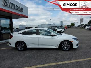 Used 2019 Honda Civic Sedan EX CVT  - Sunroof -  Remote Start - $168 B/W for sale in Simcoe, ON