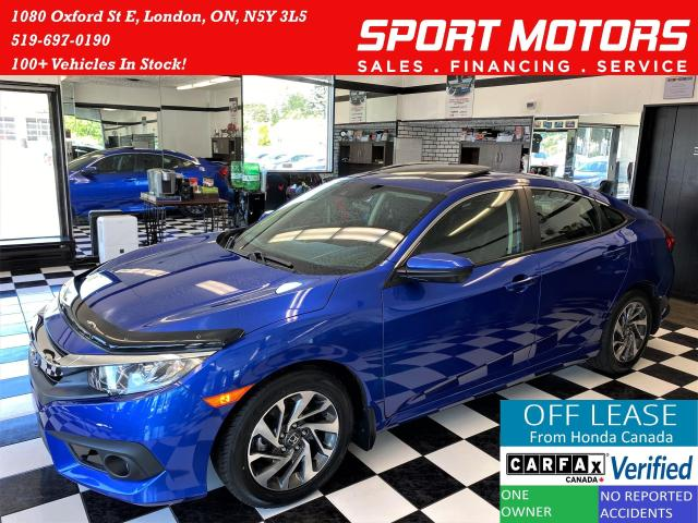 2017 Honda Civic EX+LaneKeep+RMT Start+Roof+New Tires+Accident Free